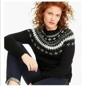 NWT! J Crew Jewel Embellished Fair Isle Sweater !